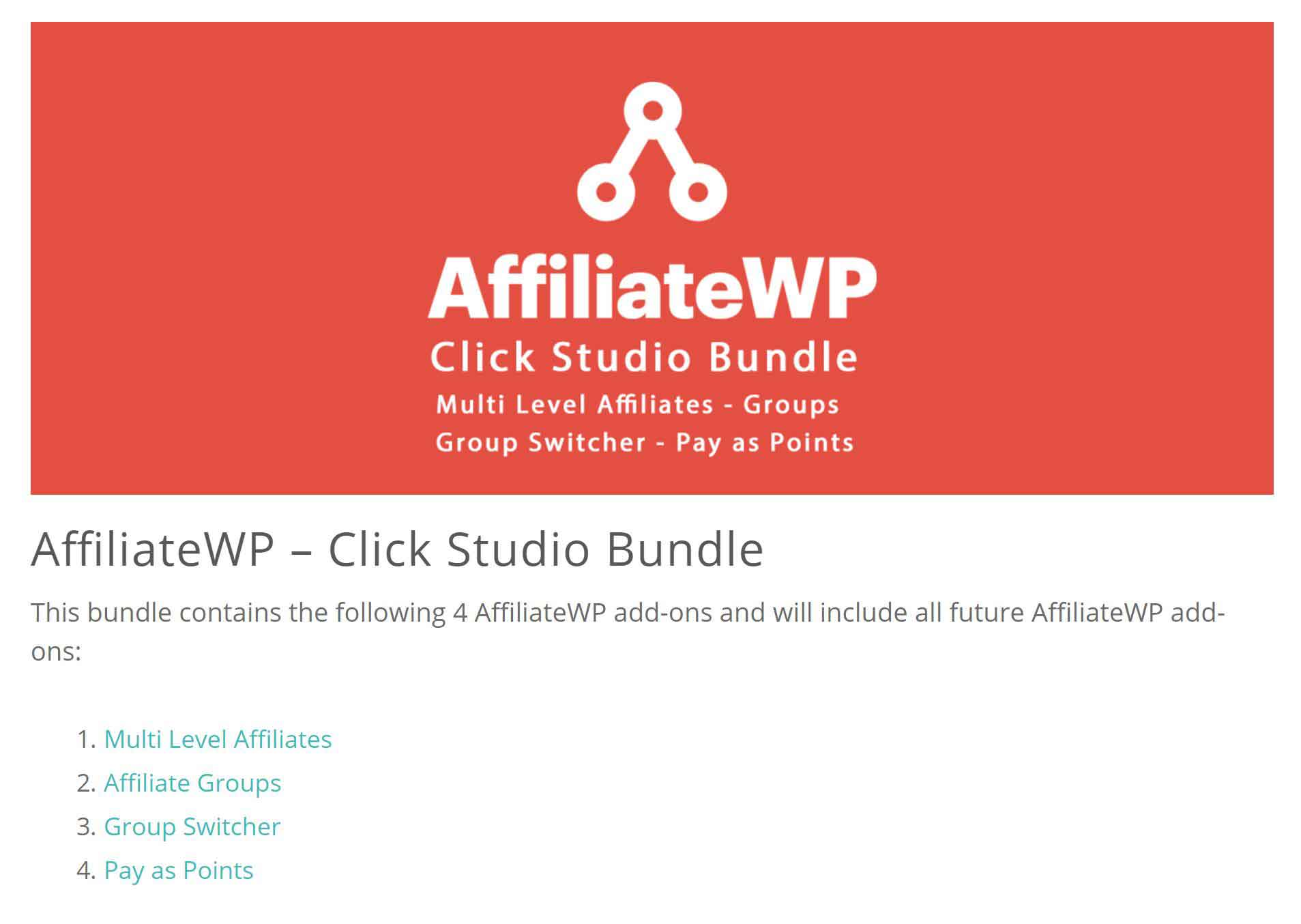 AffiliateWP – Click Studio Bundle