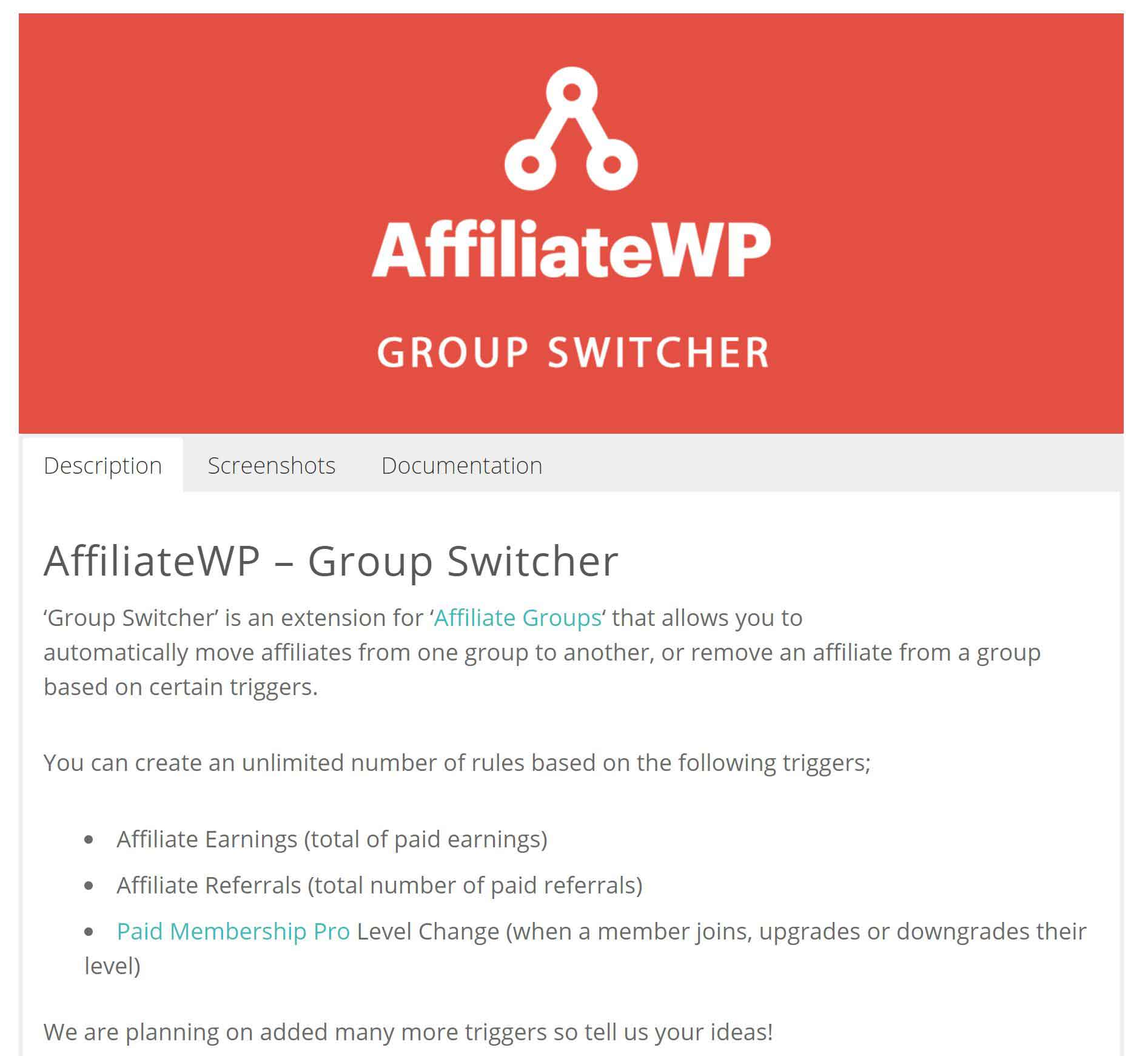 AffiliateWP – Group Switcher