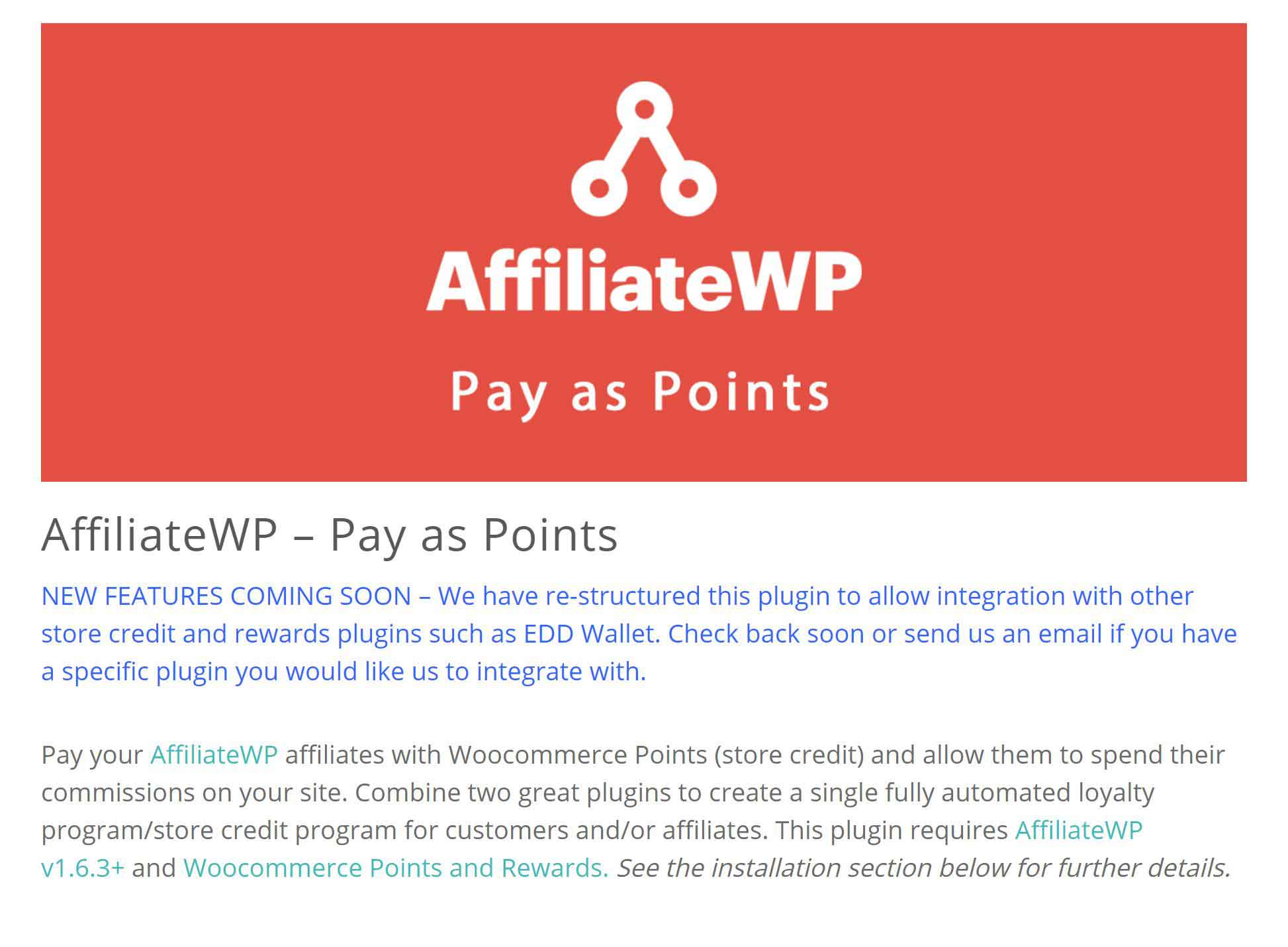 AffiliateWP – Pay as Points