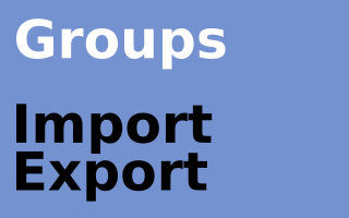 iTThink Group Import Export Plugin