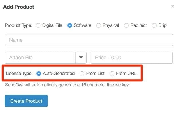 SendOwl Auto-Generation Licenses